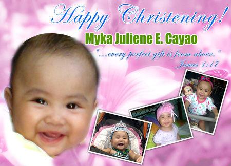 Myka Creative Design Baptismal Banner Designs Layout & Prints